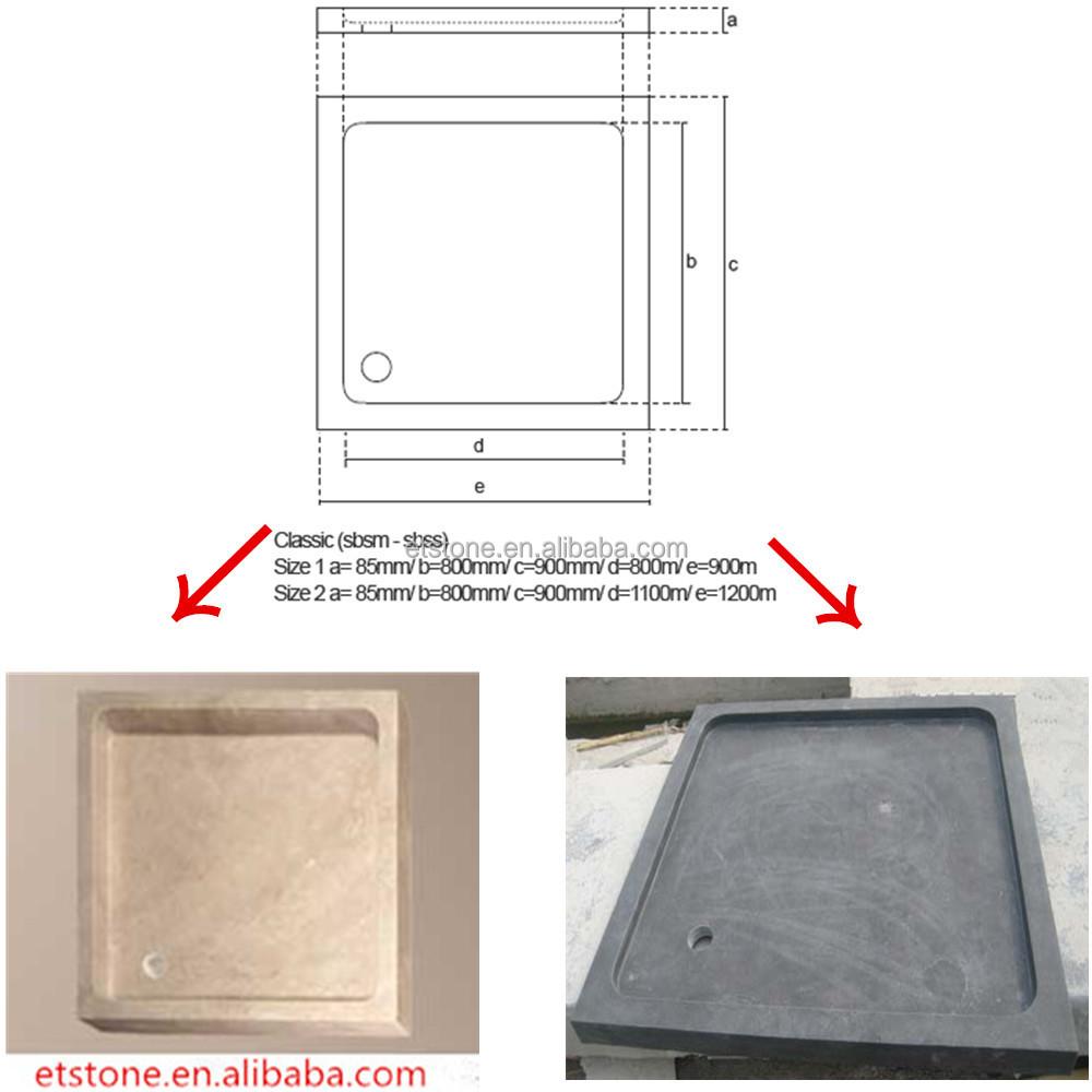 balck deep shower tray flat shower panstone shower base