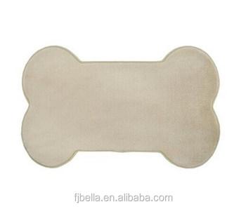 Dog Bone Shape Memory Foam Pet Mat Tan Buy Pet Bed Mat