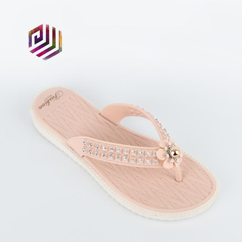 Unisex Non-slip Flip Flops Flower Elephant Nose Cool Beach Slippers Sandal