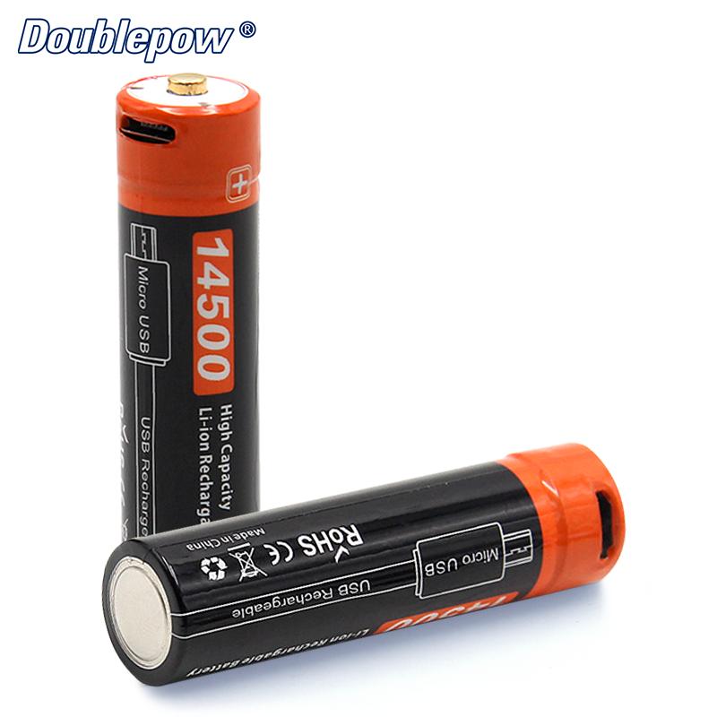 Micro-USB de carga de la batería de 3,7 V 750mAh 14500 Li-ion fabricante de la batería