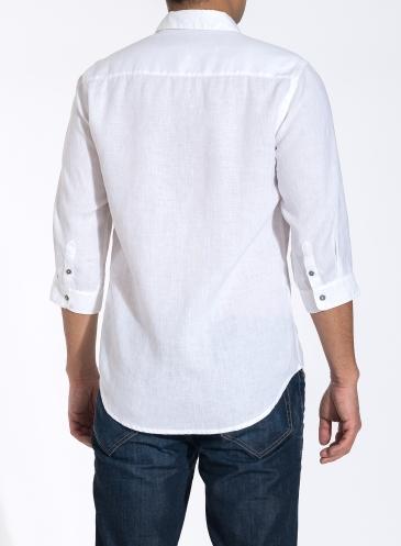 Último Manga Fit Camisa Loose Diseño Mens De 2016 34 Blanco Casual H7BwqtMZx