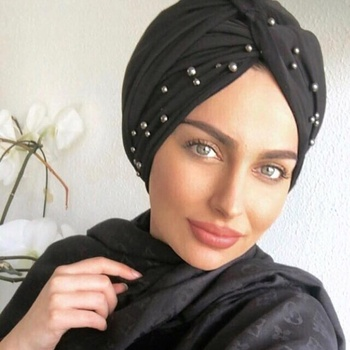 2019 beaded suede turbans for women turkishy arab suede turbans with pearls