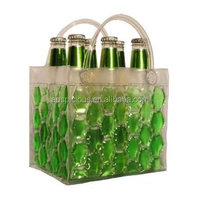 High quality PVC ice cooler beer gel bag for 6 pack bottle carrier