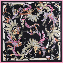 popular design large square twill silk scarf
