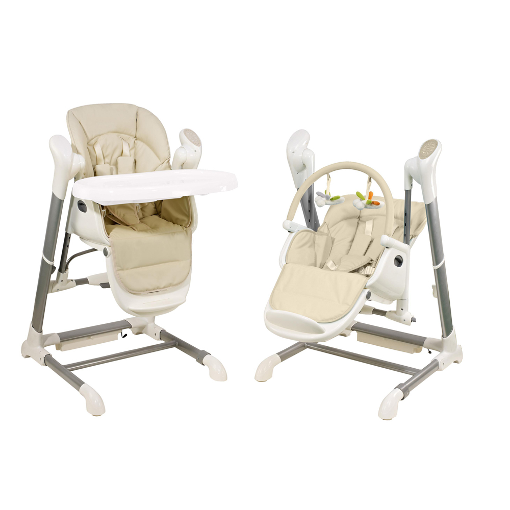 Baby feeding chair 3 in 1 Multifunctional Plastic baby feeding chair Kids feeding chair with baby Swing