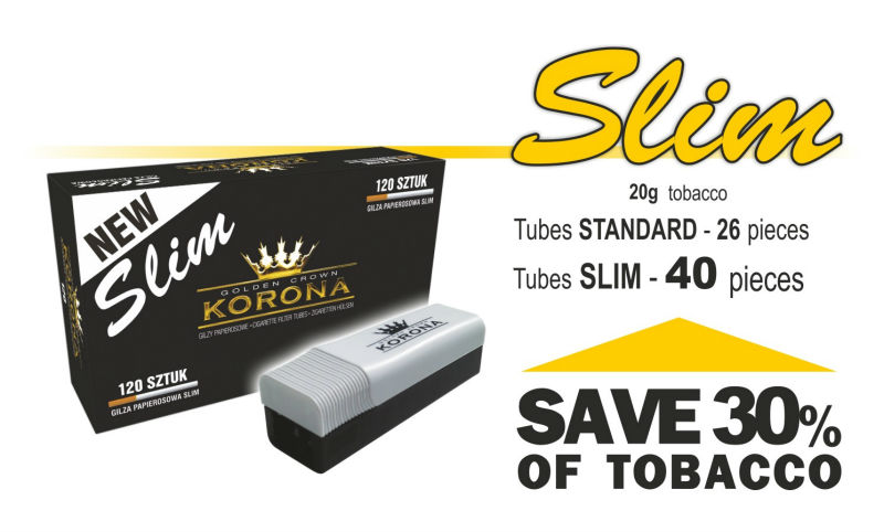 korona slim  Cigarette Filter Tubes Slim Korona White 250 - Buy Slim Cigarette ...