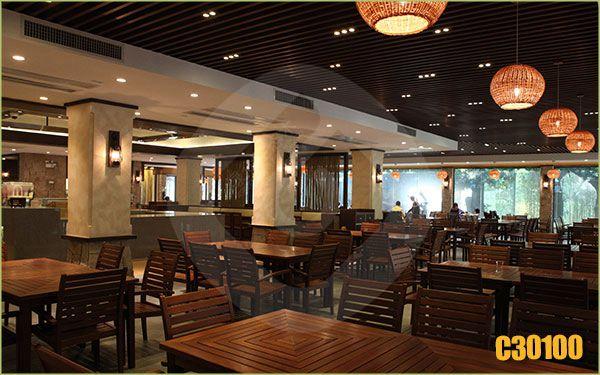 Restaurant Wpc Timber Buizen En Moderne Ontwerp Indoor Decoratieve