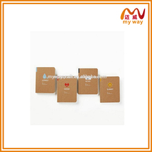 Retro Mood Blank Pages Mini Kraft Paper Diary Notebook Journal Notepad in Pocket