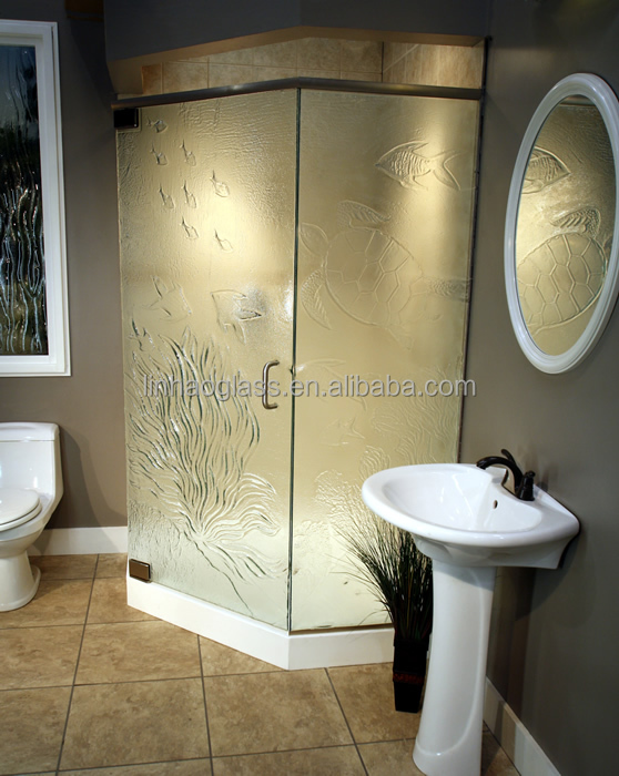 Tempered Shower Glass Panel,Slumped Glass Shower Screen - Buy ...