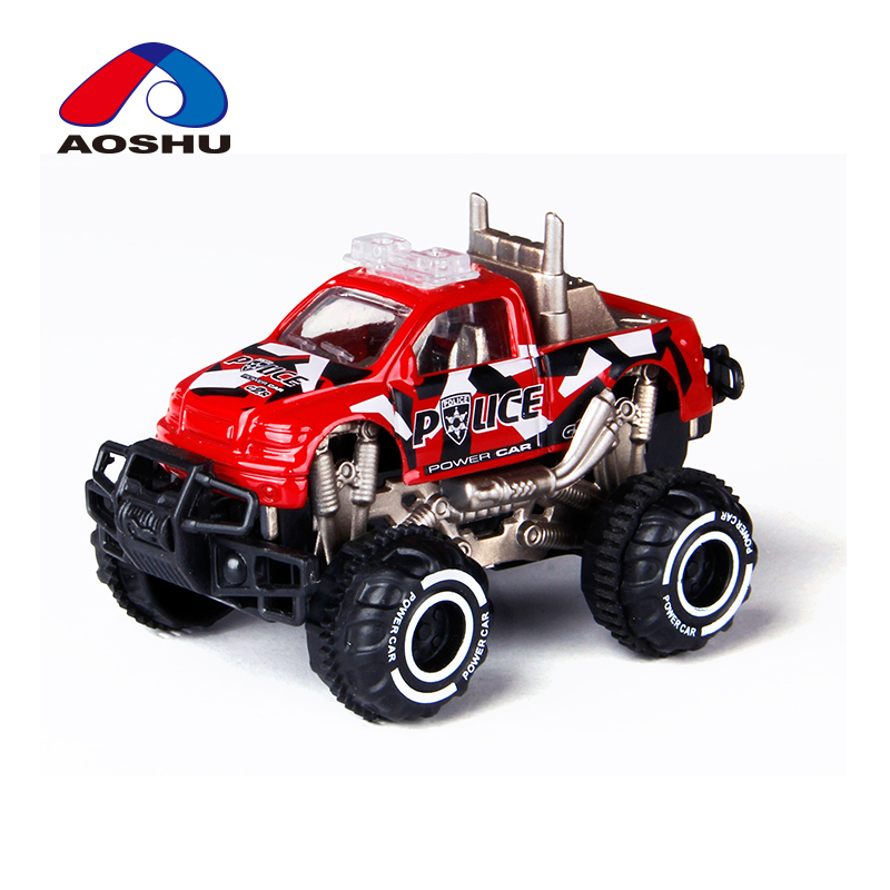 Super cool 1:64 slide die cast off-road vehicle alloy police toy car with assorted colors