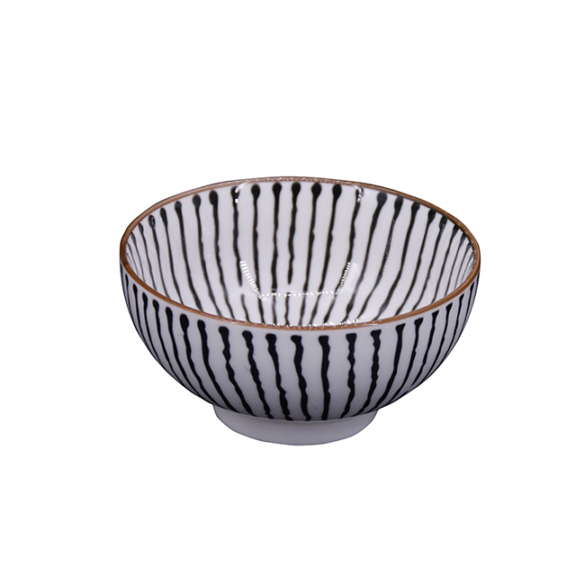 Korean Japanese Customized Painting Ceramic Bowls Noodle Bowl Salad Bowl For Wholesale