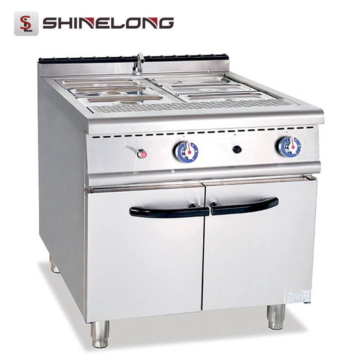 2017 the latest design Gas food warmer bain marie With Cabinet
