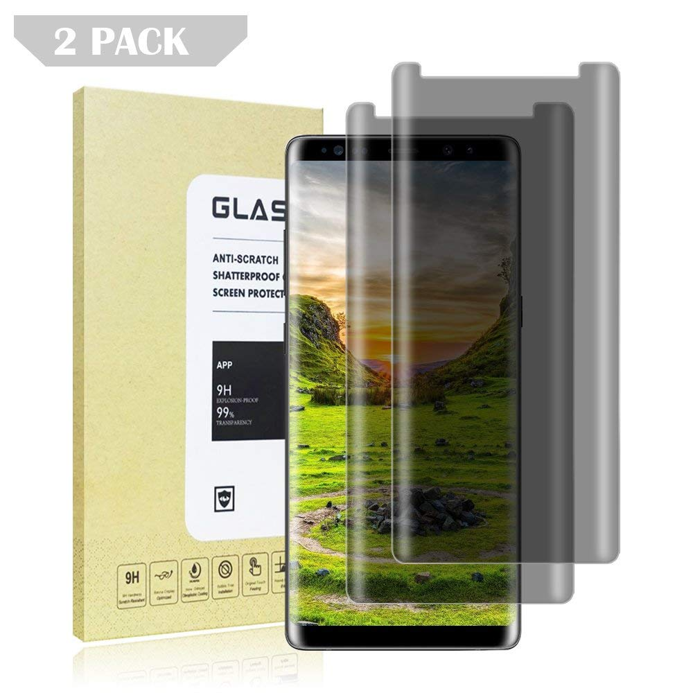 Fitquipment Samsung Galaxy Note 8 Tempered Glass Screen Protector - Privacy [Anti-Privacy] [Applicable to Situation] [9H Hardness] [No Bubbles] [Non-Peeping] for Samsung Galaxy Note 8 [2 Pack]