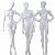 Euro fashion sexy dress full body woman dummy faceless egg head white posing female costume display mannequins doll for sale