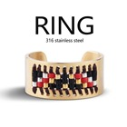 News 2018 jewelry stainless steel seadbeeds Ring