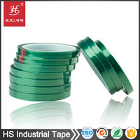 12 year factory Heat resistant insulation green pet polyester film masking easy remove stickers tape
