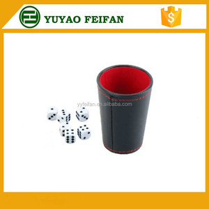 leather Shaker Dice Cup Set With 5 Dices