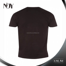 polyester cotton O-neck blank black t shirt