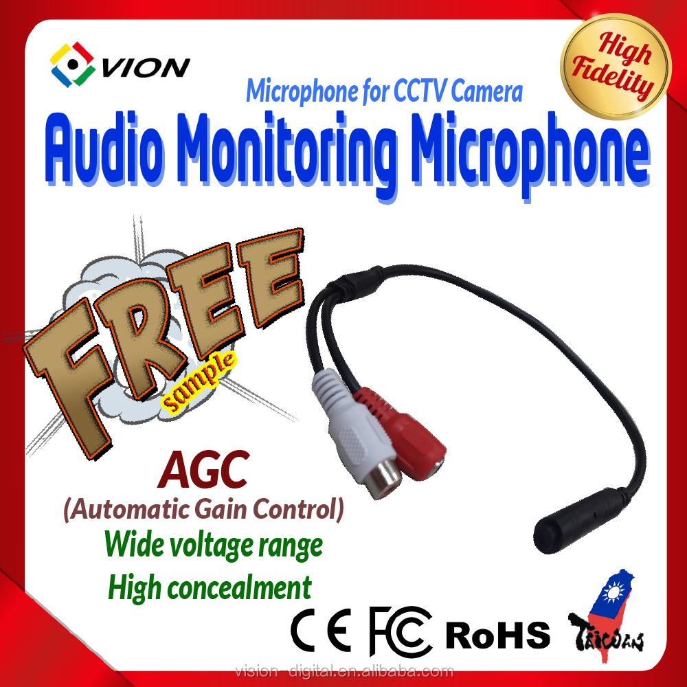 Factory price CCTV surveillance system Audio Monitoring Microphone