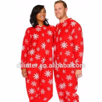 wholesale family christmas red snow onesie cospaly pajamas