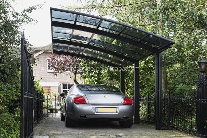 Marco De Aluminio Con Policarbonato Hoja Car Parking