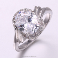 single stone ring designs costume jewelry with high quality