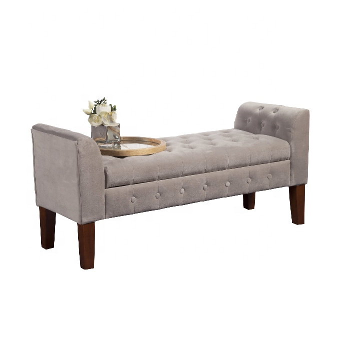 Wondrous French Style Tufted Upholstered Bedroom Storage Bench With Armrest Buy Bedroom Bench Storage Bedroom Bench Product On Alibaba Com Creativecarmelina Interior Chair Design Creativecarmelinacom