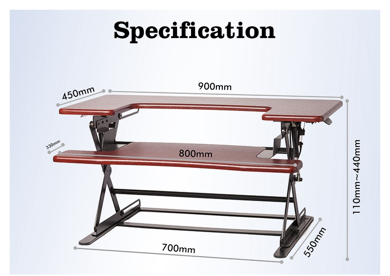 Steh Schreibtische Konverter, Folding Einstellbare Große Laptop Computer  Tisch Steh Schreibtisch Für Monitor Und Imac