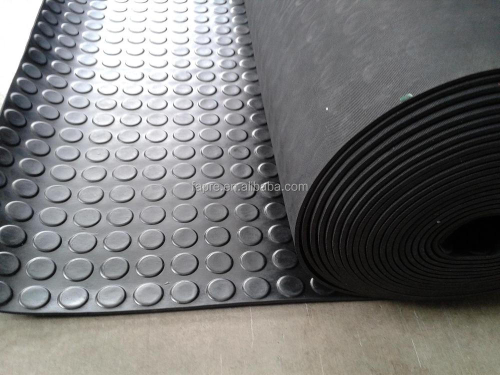 Round Dot Rubber Sheet Coin Grip Rubber Mat Round Stud