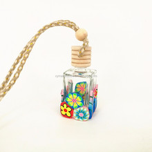 Hot selling car air freshener hanging empty perfume bottles with wooden cap