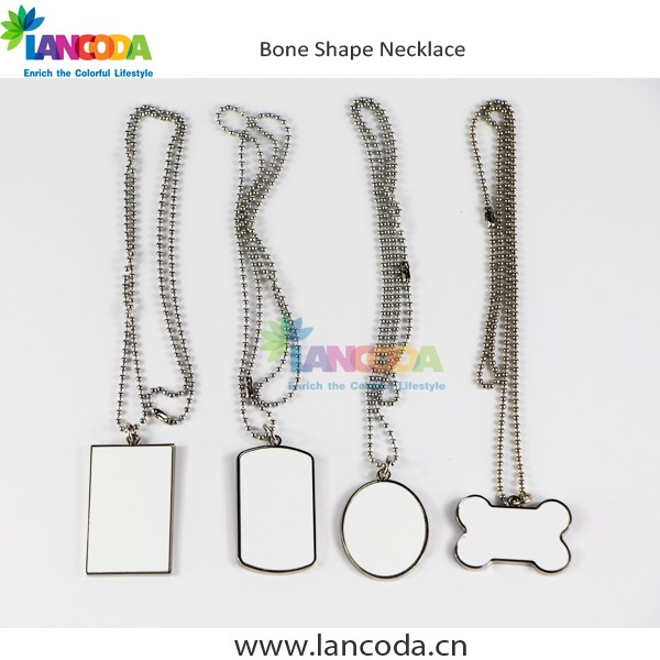 Fashionable Design Sublimation blank jewelry necklace
