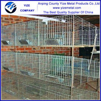rabbit cages used 4 layer easy clean and manage Commercial rabbit cage