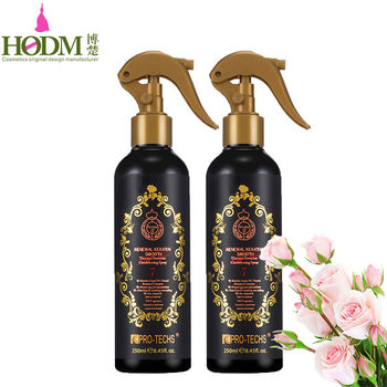 Private label 250 ml heat protection moroccan oil hair spray+renewal keratin smooth thermal protector conditioning spray