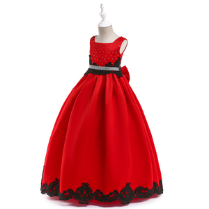 Free Shiping Wholesale Chinese Baby Childs Clothes Long Party Wear Communion Party Dress LP-205