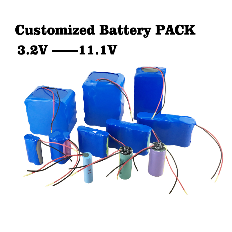 3.2V 3.7V 6.4V 7.4V 11.1V Customized Lithium Battery Street Light Lawn Lamp Electric Tools Electric Toys Medical Device Battery