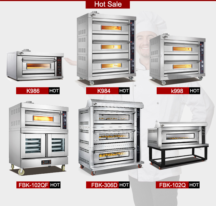 2017 Commercial Bakery Equipment K263 2-Layer 4-Tray For Mini Bakery Industrial Gas Ovens For Mini Bakery