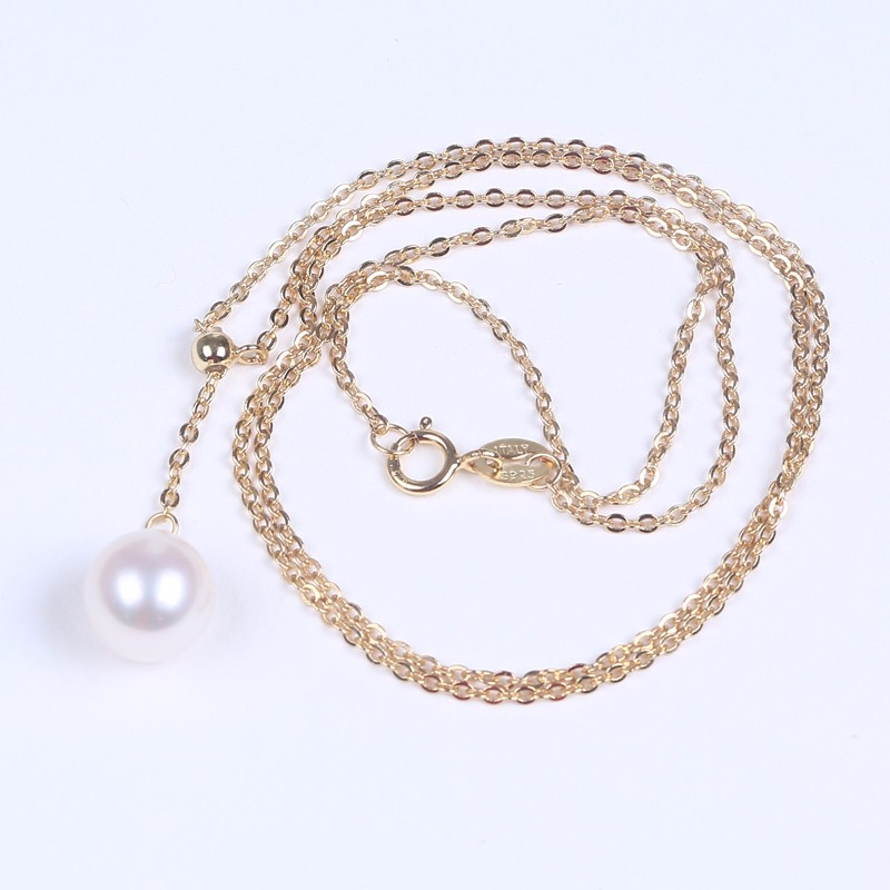 Freshwater pearl necklace 925 silver hand chain jewelry