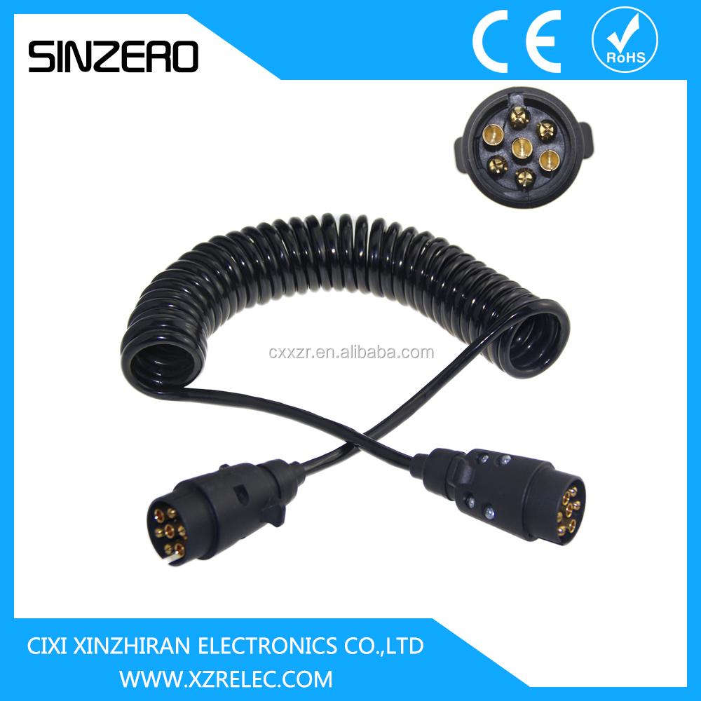 Automobil-spiralkabel/spirale Gewickelten Draht Cablexzrt003/7 Kern ...