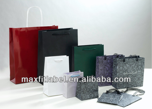 recycled kraft paper bags for garment with high quality
