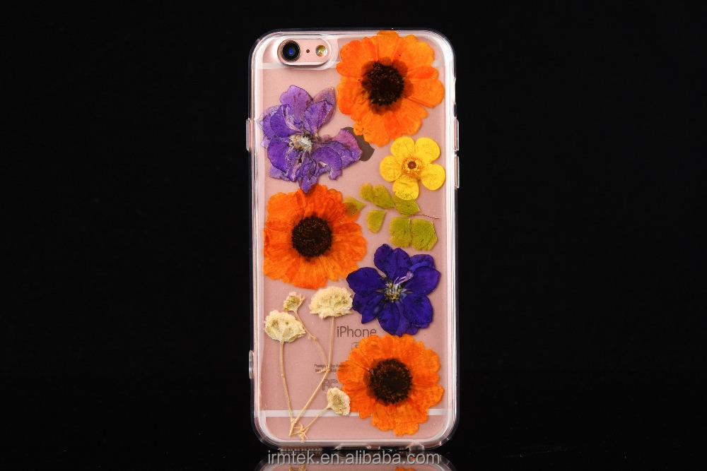 Multi Category Transparent Paintting Flowers TPU Cellphone Rear Cover Case For Iphone6G