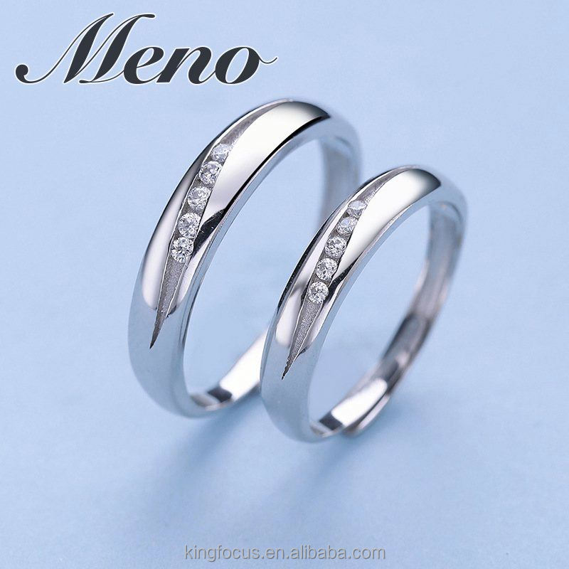Meno S925 silver opening lover couple ring fashion jewelry