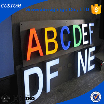 Front Advertising Led Lighting Sign Letter Signboard Logo Product On