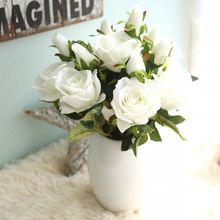 Competitive price natural fake artificial velvet roses flowers for wedding