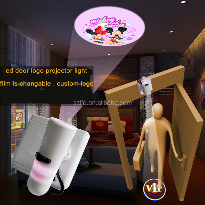Customized LOGO led <strong>projector</strong> light home hotel party decoration led ghost welcome decorative lamp