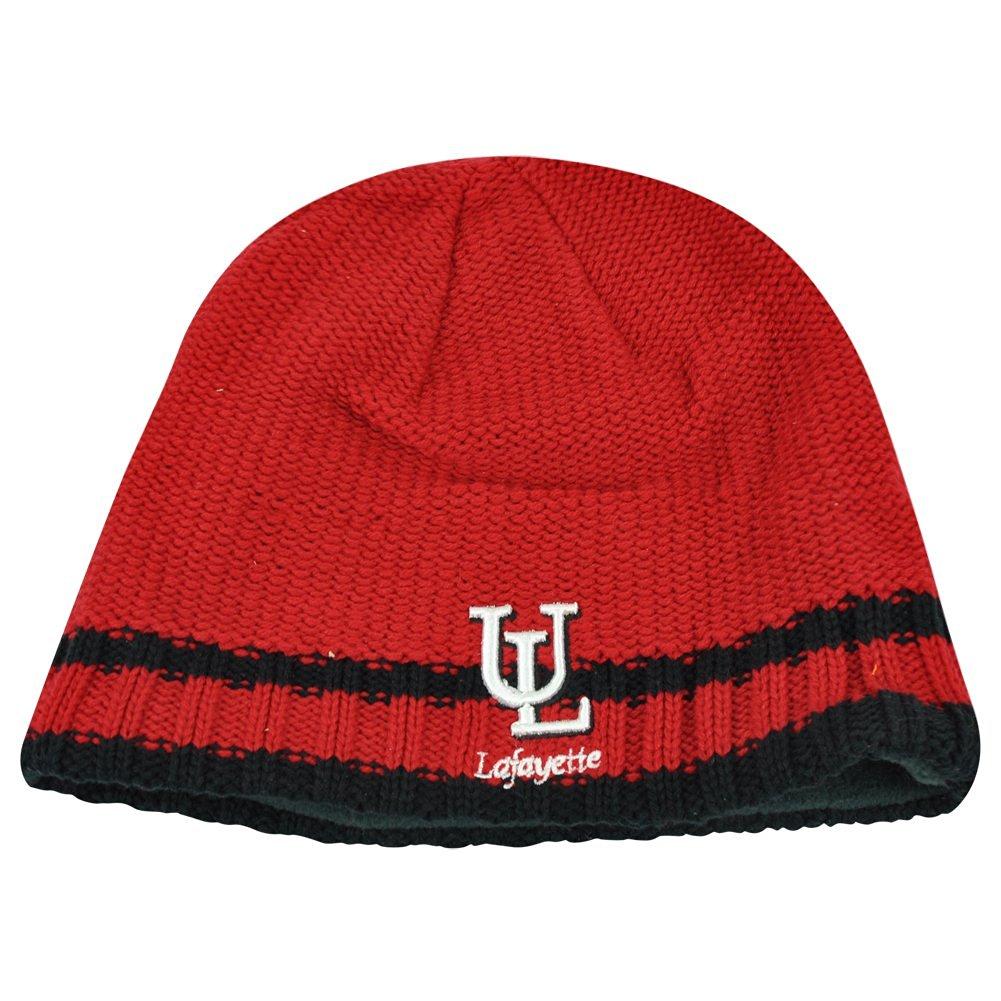 b561a1a3f13 Get Quotations · NCAA Lafayette Ragin Cajuns Striped Fleece Cuffless Knit  Beanie Winter Hat Toque
