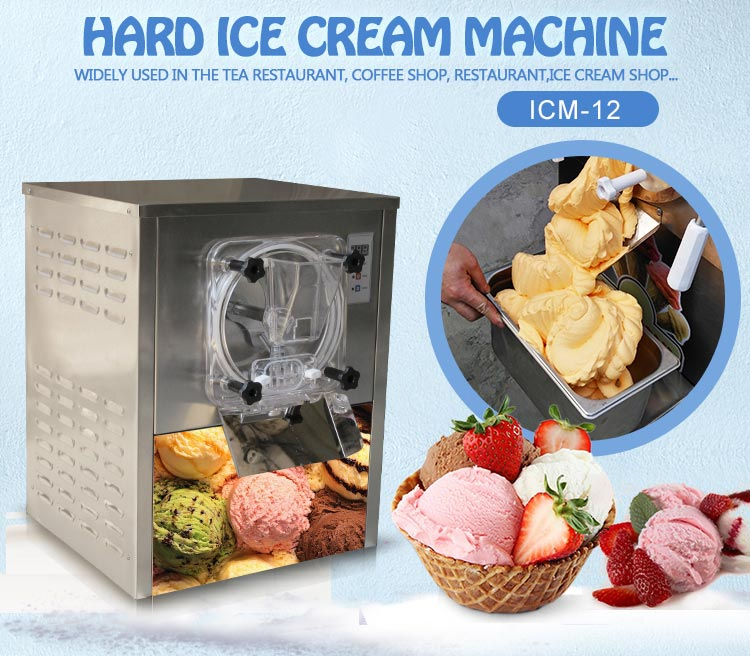 Mini price commercial small table top hard ice cream machine