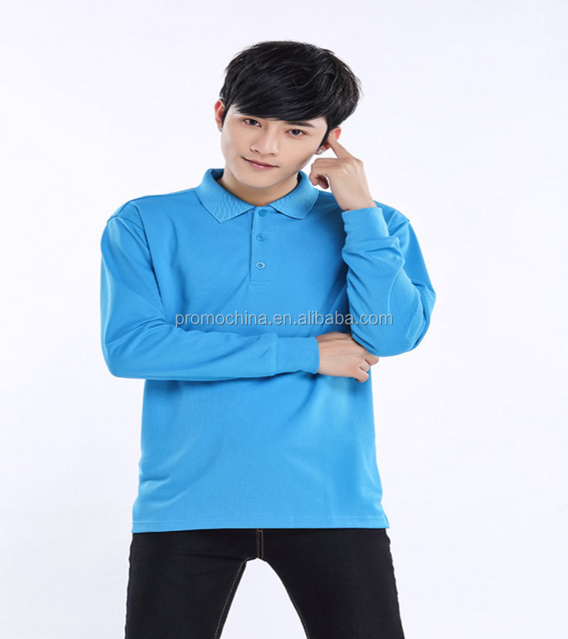 OEM Customized Long Sleeve Volunteer Polo Shirt Workerwear For Advertising Promotion