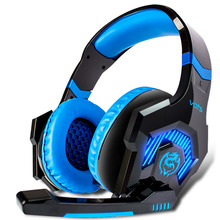 VOTS SDS Over-Ear 3.5mm Gaming Headset Headband Game Headphones  Earphones With Microphone LED Light For PC Laptop  COMPUTER