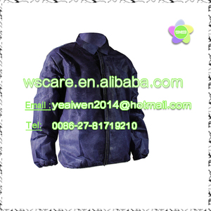 disposable car-racing recovery coats non woven material jacket