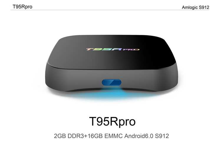 New product 2018 T95R Pro s912 2g 16g 8k android tv box amlogic S912 Dual WIFI KD player TV BOX